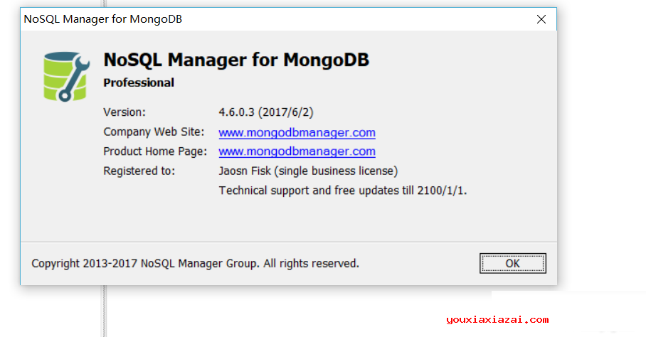 nosql manager for mongodb